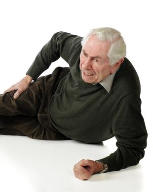Old man lying down in pain - Man Lying Down PNG
