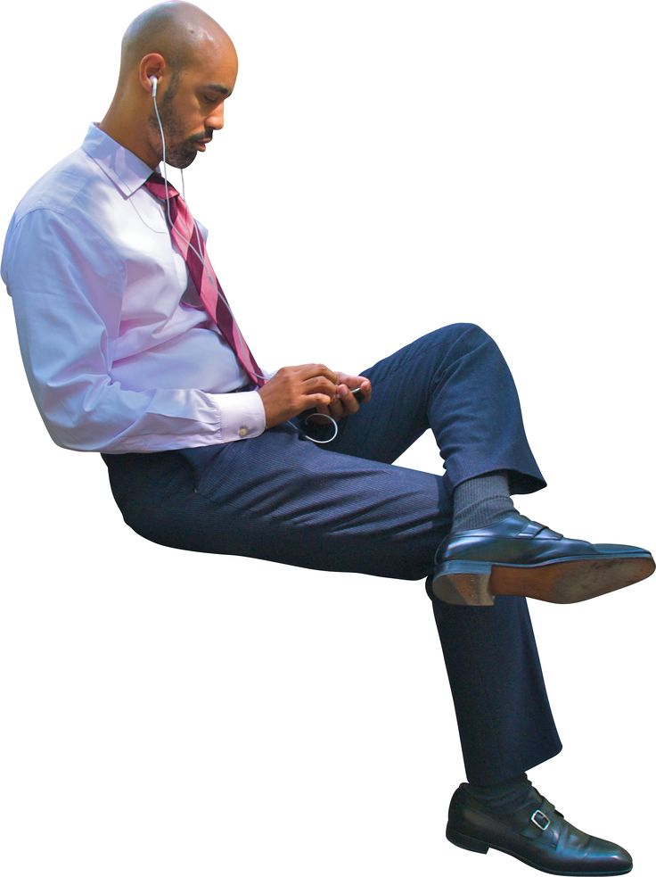 Man Sitting At Desk Business Using Phone 736 Silhouette