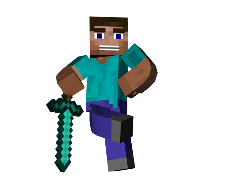 Man Standing Sword Minecraft - Minecraft PNG