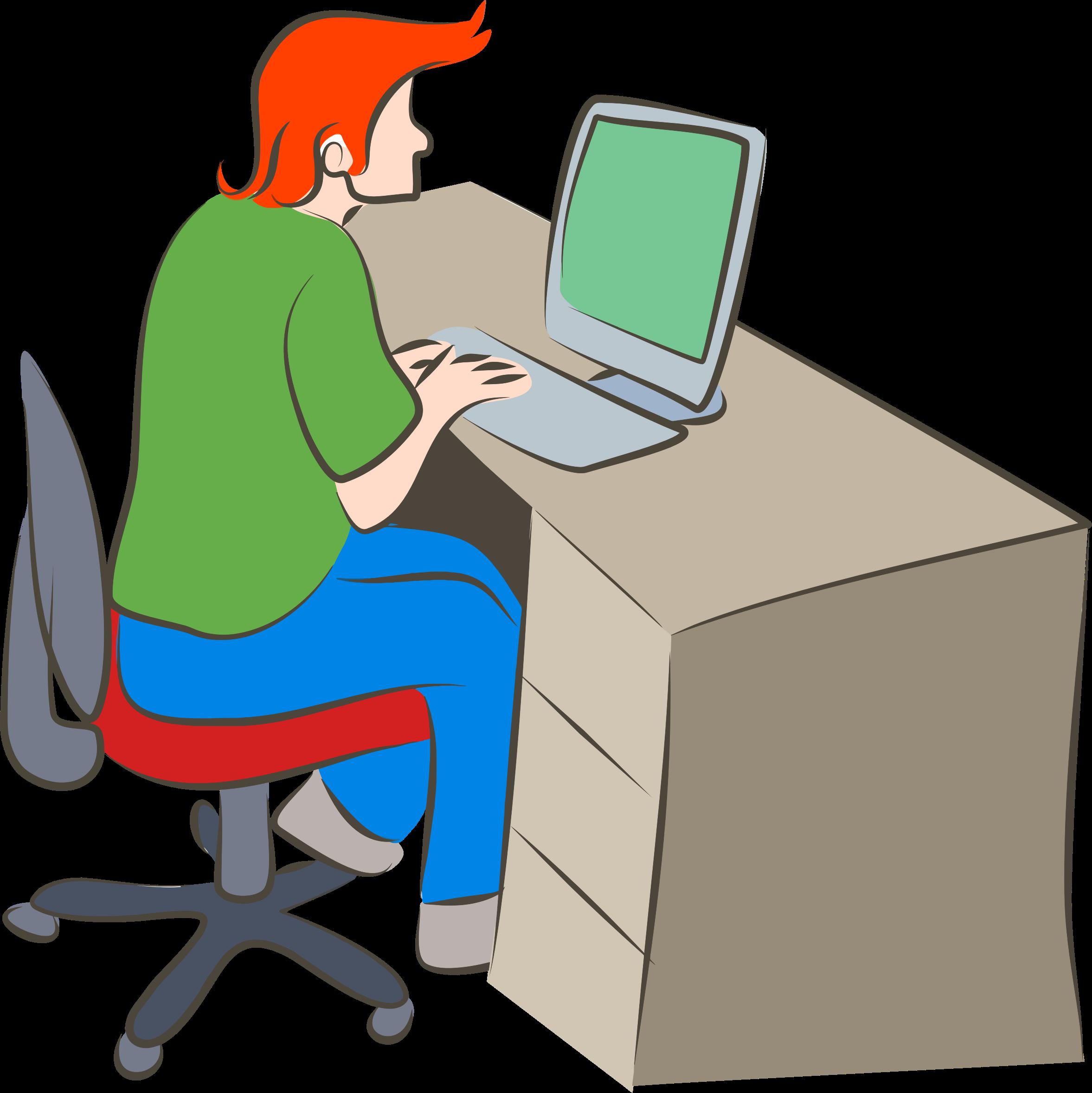 Man Using Computer PNG - 80186