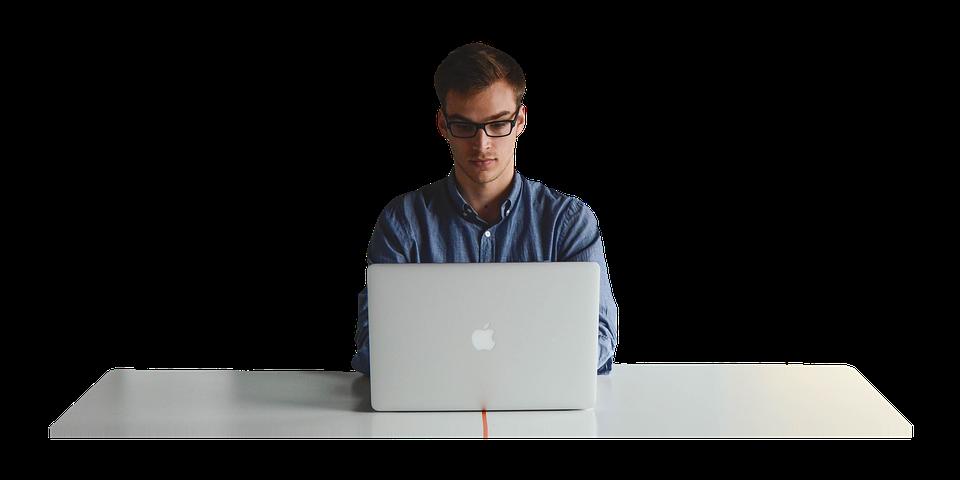 Man Using Computer PNG - 80183