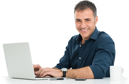 man - Man Using Computer PNG
