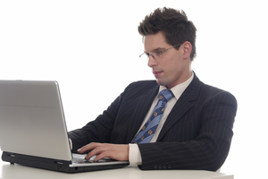 Man On Computer Image - Man Using Computer PNG