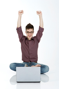 Man Using Computer PNG - 80196