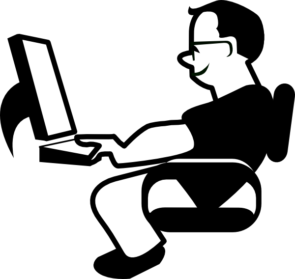 PNG: small · medium · large - Man Using Computer PNG
