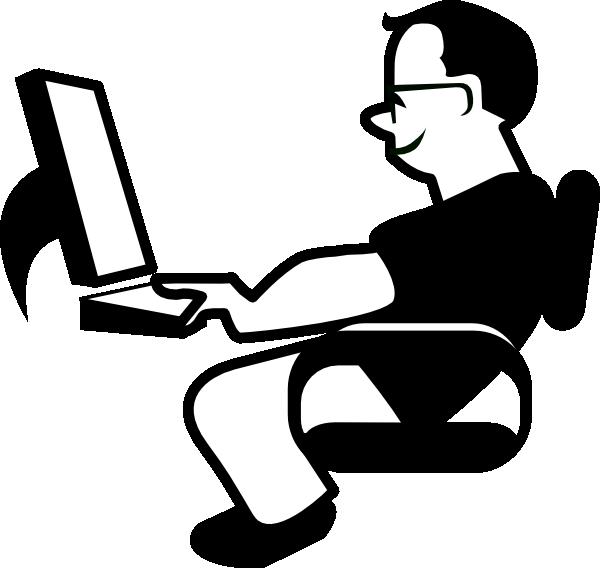 Man Using Computer PNG - 80191
