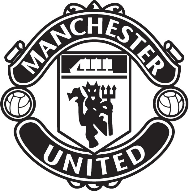 Manchester United Logo Black And White - Manchester United Logo PNG