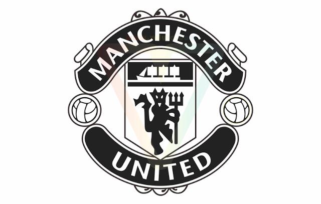 Manchester United Logo Black White - Manchester United Logo PNG