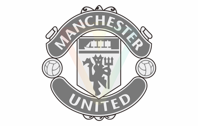Manchester United Logo Grayscale - Manchester United Logo PNG