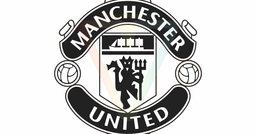 Manchester United Logo Black White | Vector (CDR/AI/EPS/SVG/PNG/JPG) |  VOLUVO - Manchester United PNG