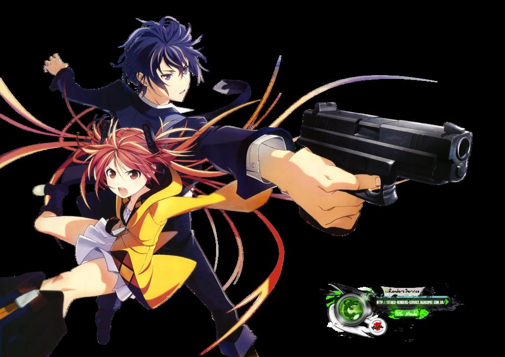 Black Bullet:Aihara Enju Satomi Rentarou HD PNG by  OtakuRenders-Service.deviantart - Manga HD PNG