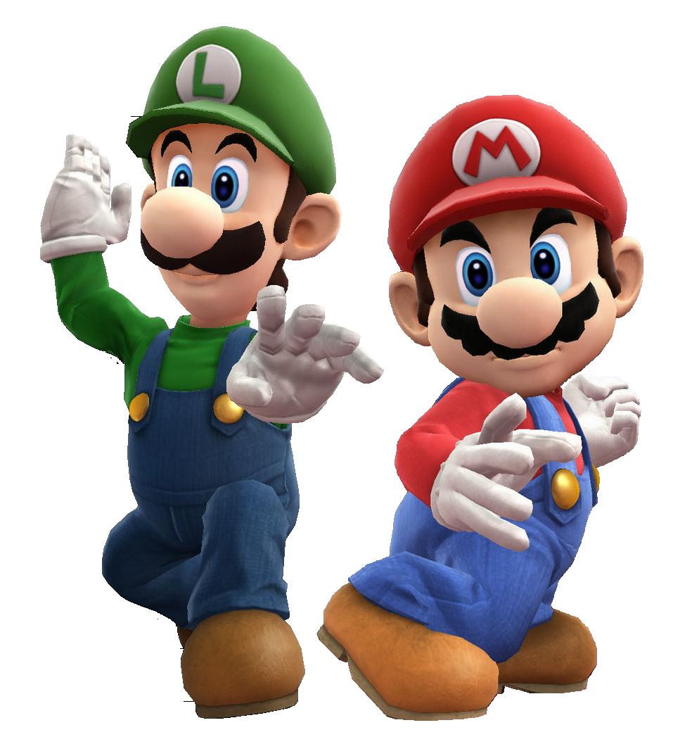 . PlusPng.com Mario and Luigi battle pose by Banjo2015 - Mario And Luigi PNG