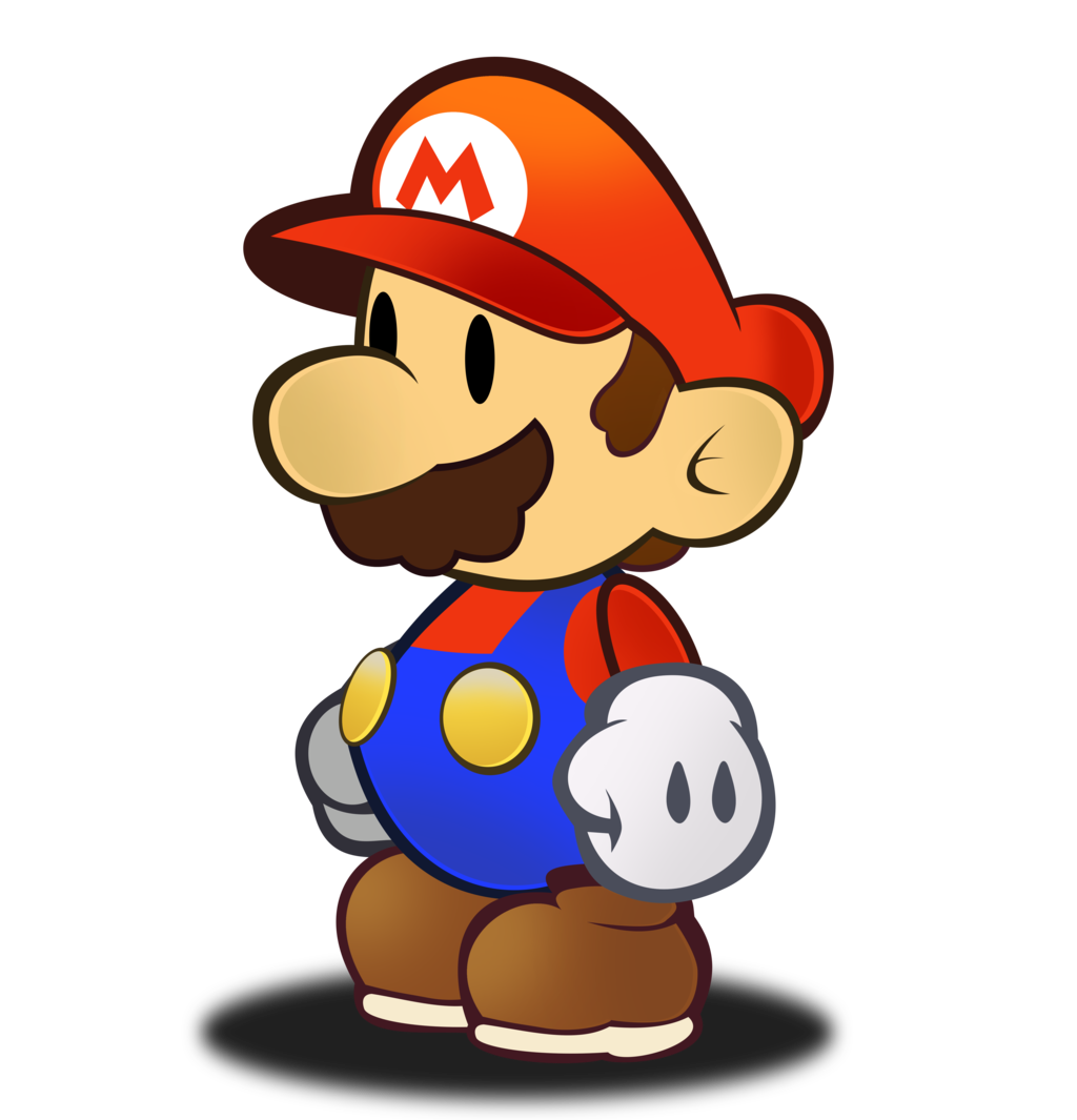 Paper Mario HD Sprite by Fawfulthegreat64 Paper Mario HD Sprite by  Fawfulthegreat64 - Mario HD PNG