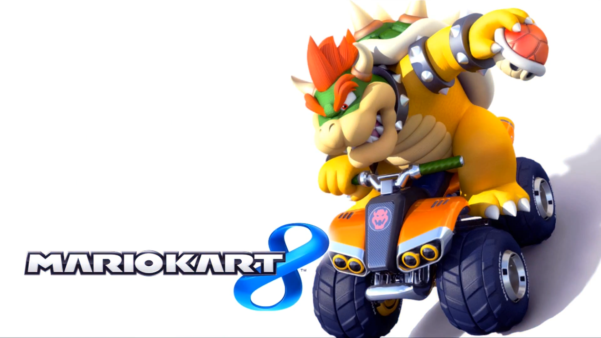 Mario Kart 8 Title Screen (Bowser).png - Mario Kart PNG HD