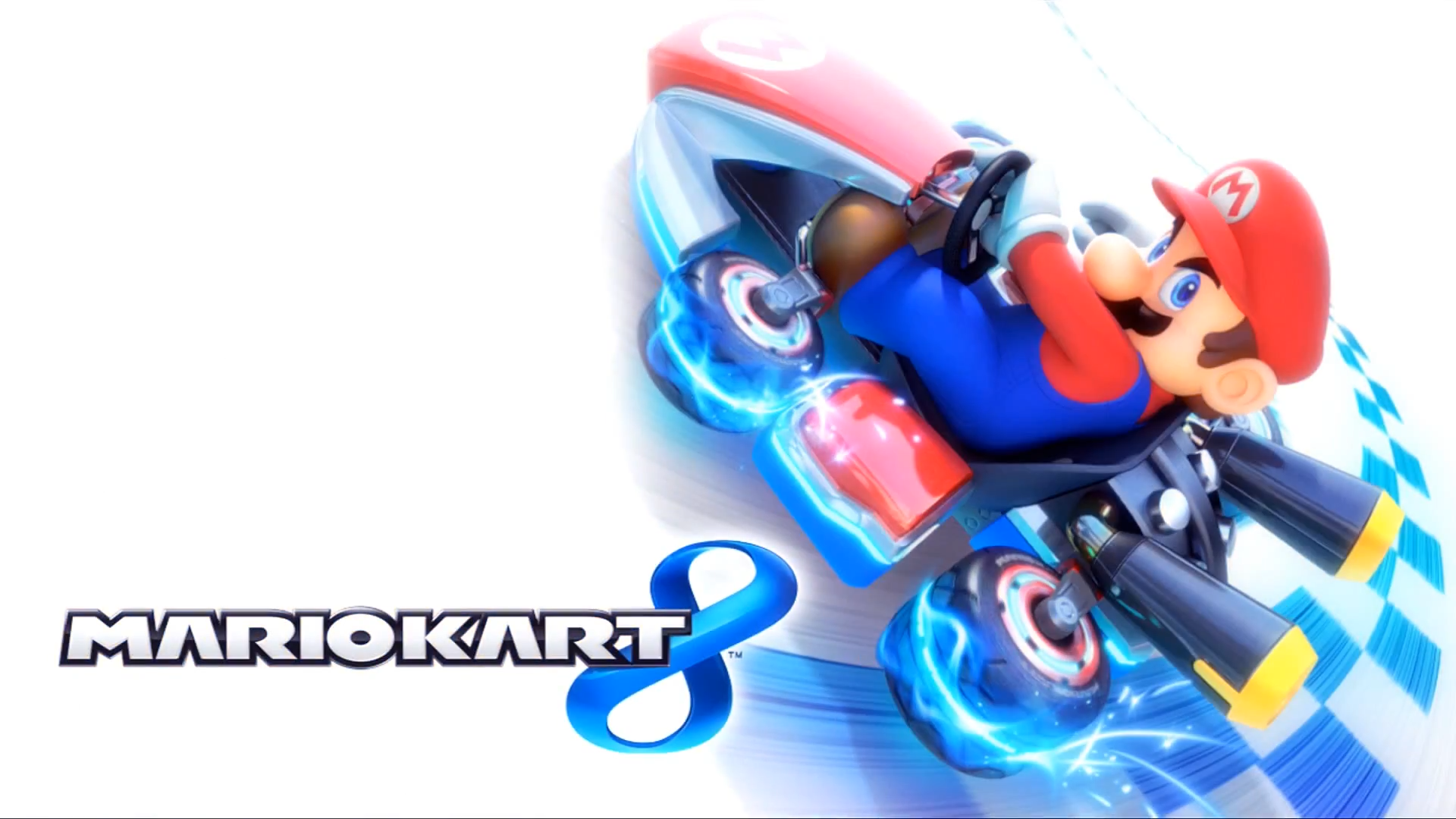 Mario Kart 8 Title Screen (Mario).png - Mario Kart PNG HD