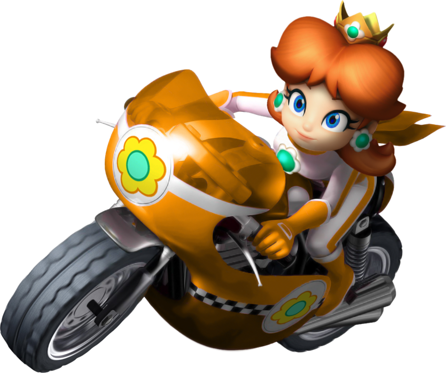 Mario kart wii daisy bike by tonytoad22-d3dizdr.png - Mario Kart PNG HD