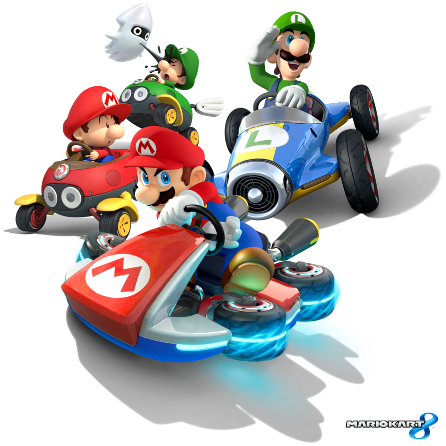 Super Mario Kart Transparent Background - Mario Kart PNG HD
