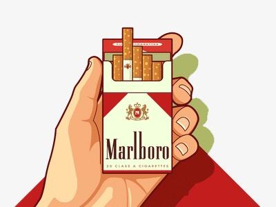 Marlboro, Us Man, American Comics, Graffiti Free PNG Image - Marlboro Logo Eps PNG