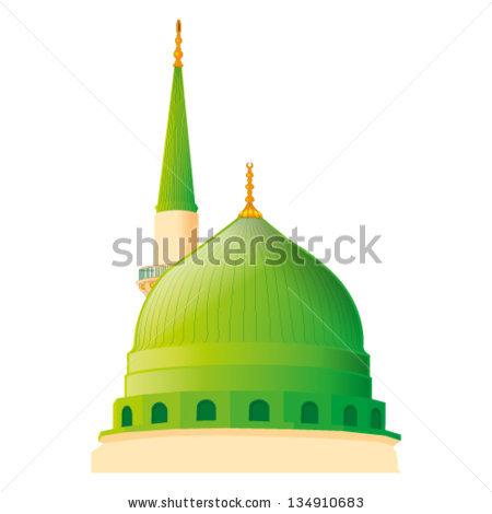 A Vector Draw Of Masjid Nabawi In Madina - Masjid Nabawi PNG