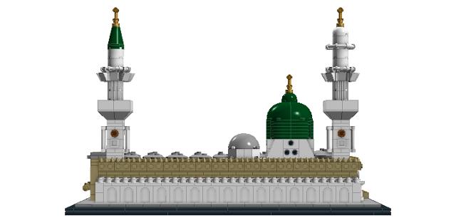 Building, Architecture, Lego, Wildchicken13, Dome, Mosque, Holy, Islamic,  Green, Masjid, Al, Nabawi, Medina, Saudi, Arabia, Muslim, Arab, - Masjid Nabawi PNG