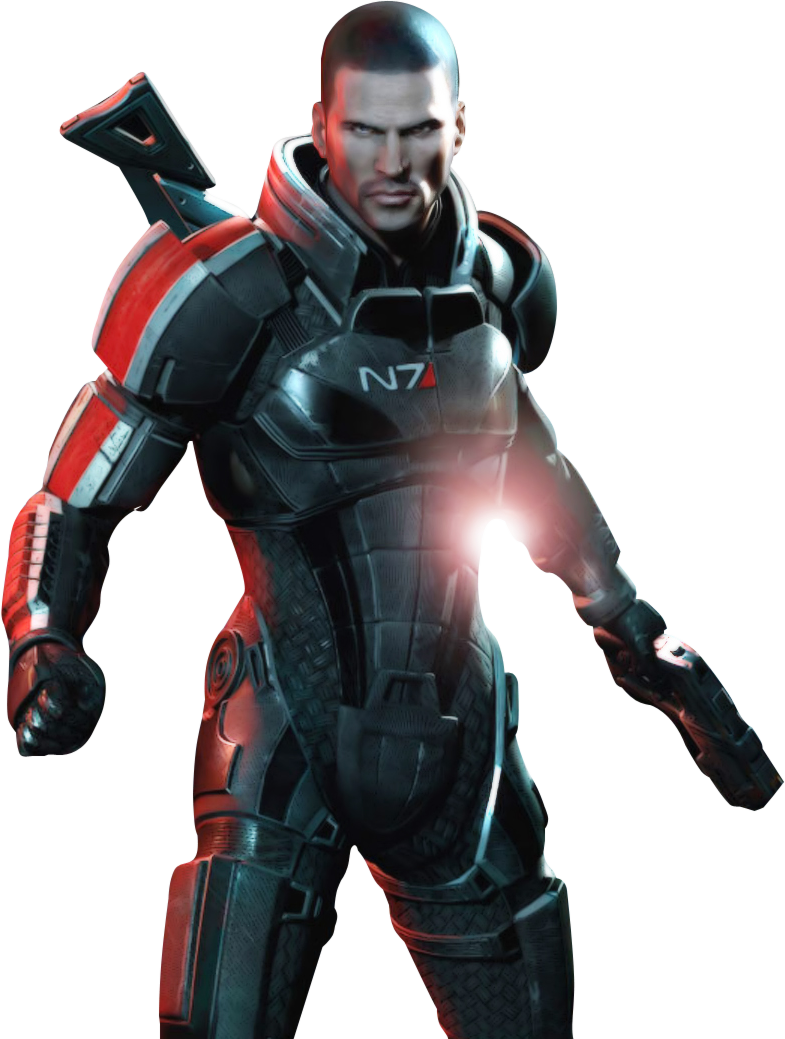Commander Shepard in Mass Effect 3.png - Mass Effect PNG
