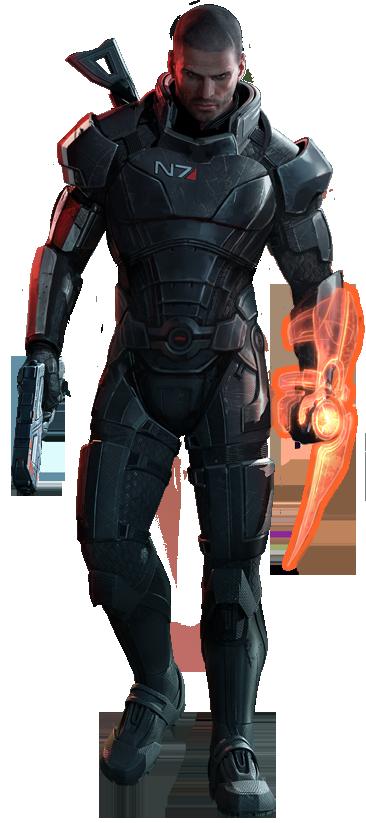 John Shepard.png - Mass Effect PNG