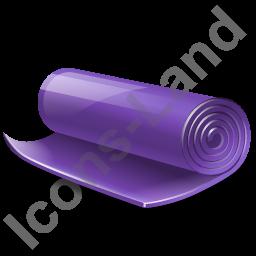 Yoga Mat Icon, PNG/ICO, 256x256 PlusPng.com  - Mat PNG HD