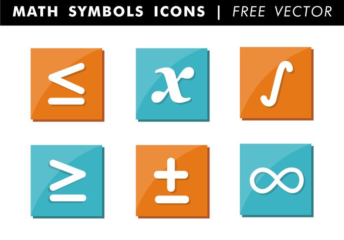 Math Symbols Icons Free Vector - Maths Signs PNG