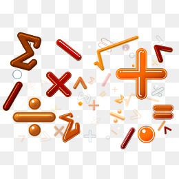mathematical operators collection, Calculating Signs, Math, Summation PNG  and PSD - Maths Signs PNG