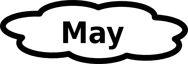 May PNG Black And White