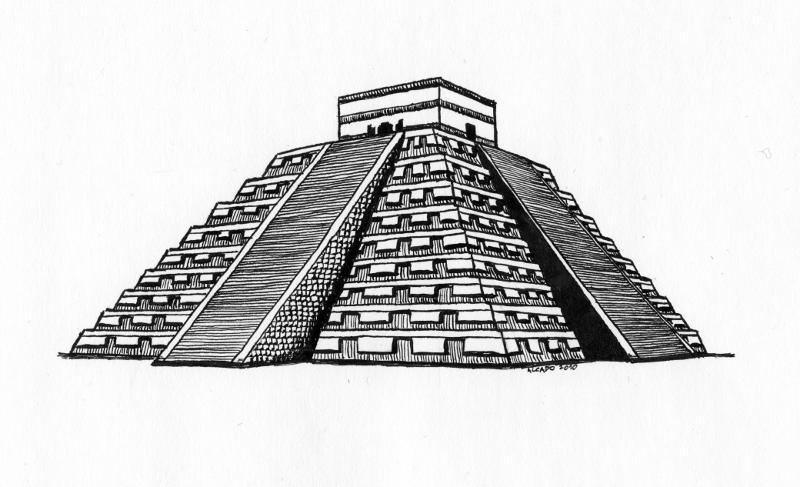 Mayan Pyramid PNG
