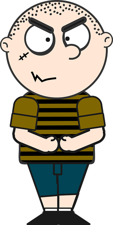 boy bully cartoon child kid mean naughty spooky - Mean Boy PNG