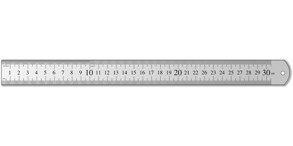 ruler measure length meter cm centimeter office