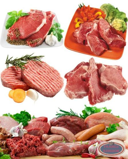 Fresh sliced raw meat pictures HD clipart - Meat HD PNG