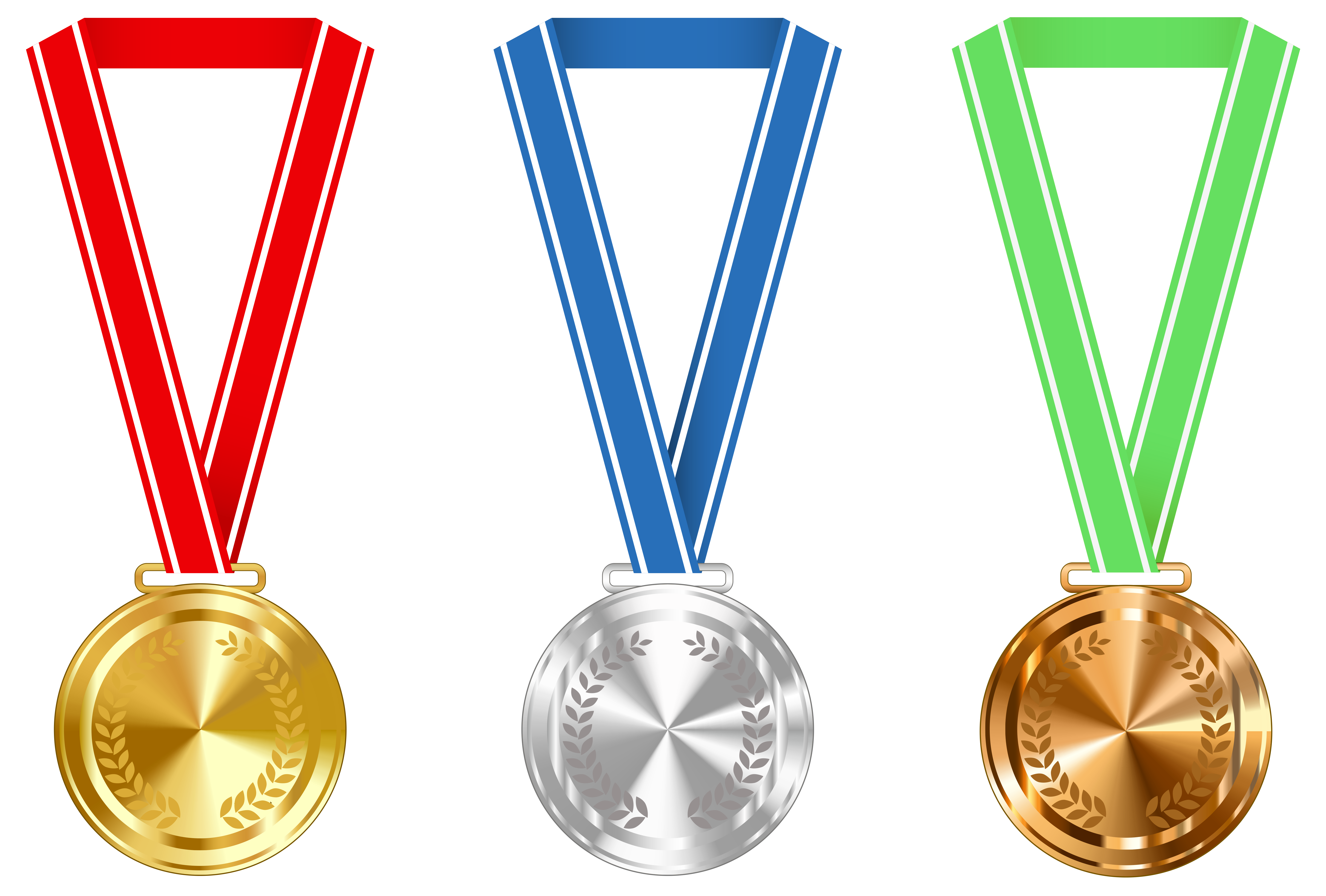 Gold Silver and Bronze Medals PNG Clipart Image - Medal HD PNG