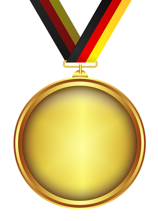 Medal, Gold, Tape, Transparent Background, Decoration - Medal HD PNG