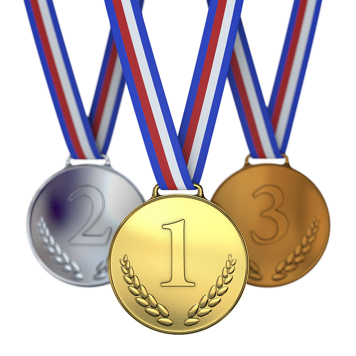 Medals, Winner, Runner-Up, Third, Second, First, One - Medal HD PNG