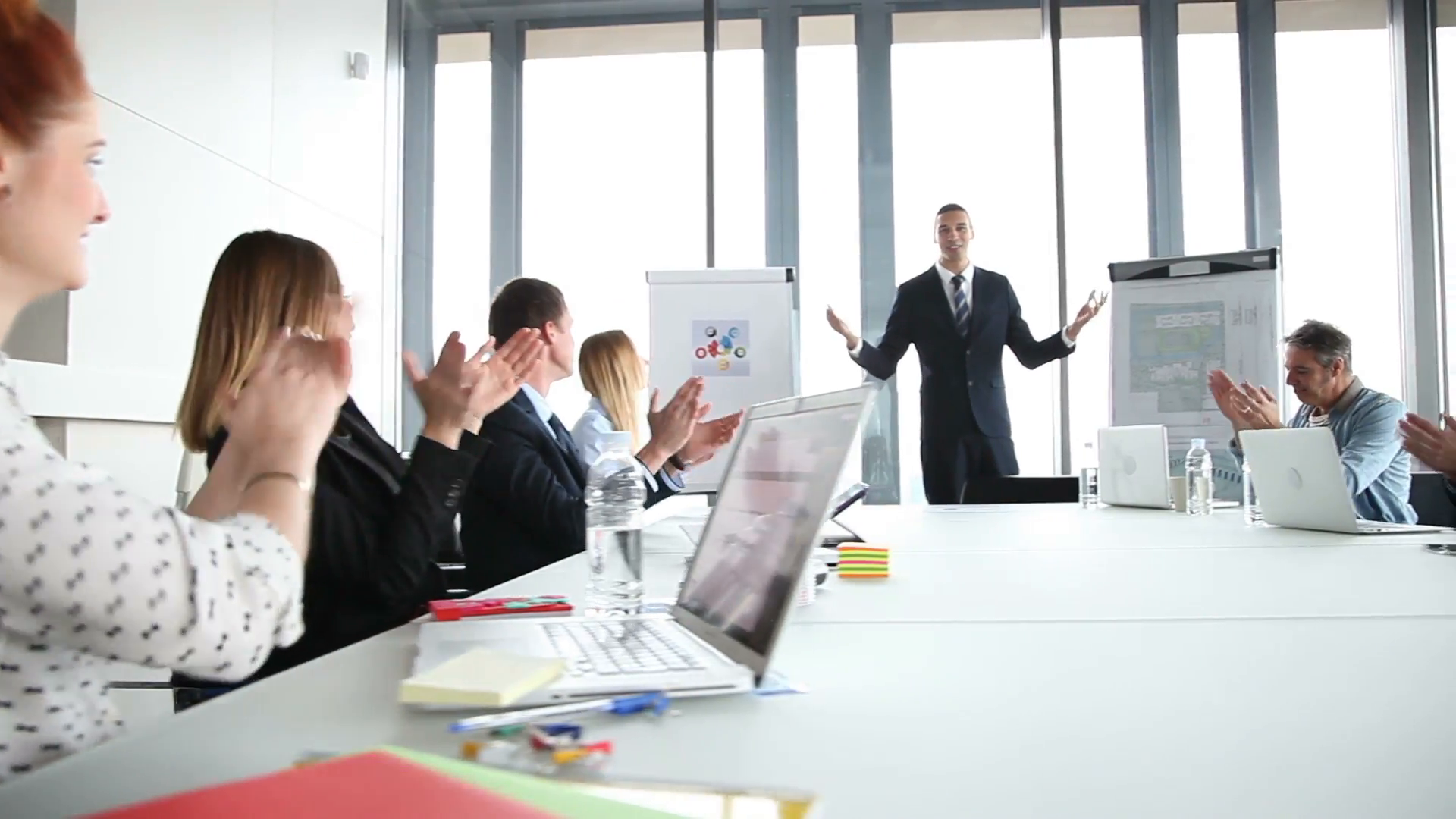Business people clapping after meeting with manager in conference room  Stock Video Footage - VideoBlocks - Meeting HD PNG