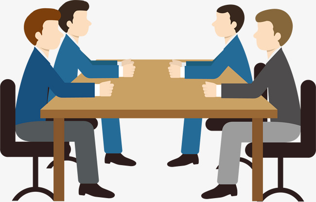 Four business meeting ppt HD Photo material Free PNG and Vector - Meeting HD PNG