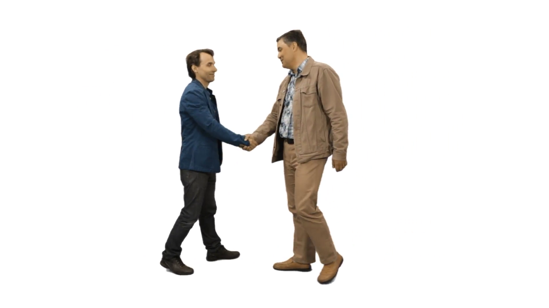 The meeting of two men and a handshake. Full HD footage with alpha channel  Stock Video Footage - VideoBlocks - Meeting HD PNG