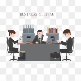 Vector Business Meetings, Vector, HD, Male PNG and Vector - Meeting HD PNG