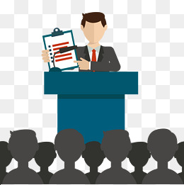 Vector Public Speaking, Vector, HD, Leave The Meeting PNG and Vector - Meeting HD PNG