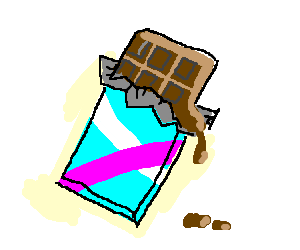 Newly opened, slightly melted chocolate bar. - Melting Chocolate Bar PNG