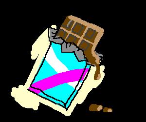 Melting Chocolate Bar PNG - 46326
