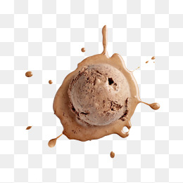 Melted ice cream ball. PNG - Melting Ice Cream PNG