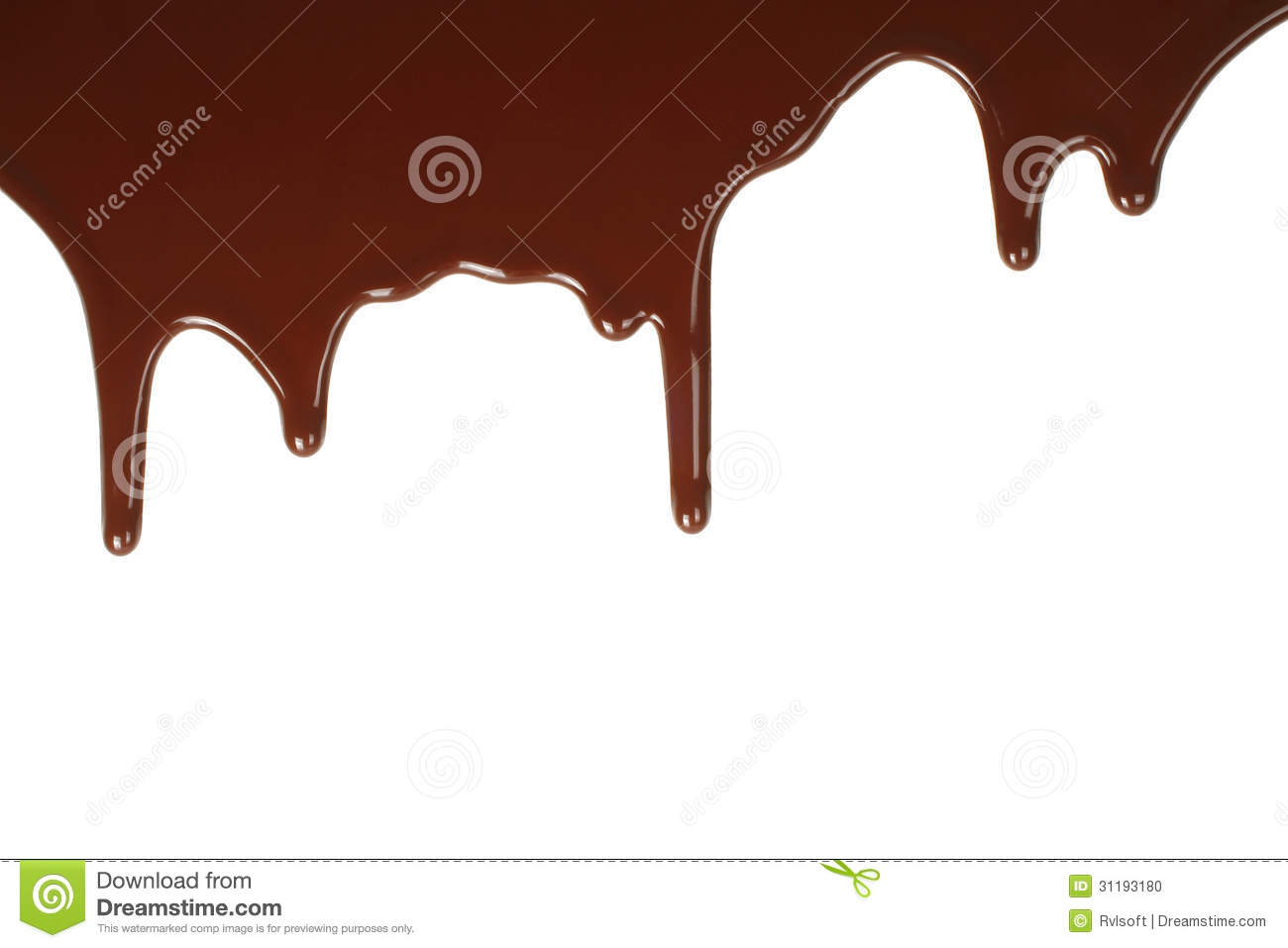 Melting chocolate dripping Stock Photo - Melting PNG