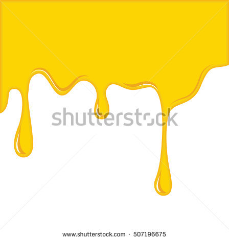 Vector of Yellow Cheese or oil melting for Background - Melting PNG