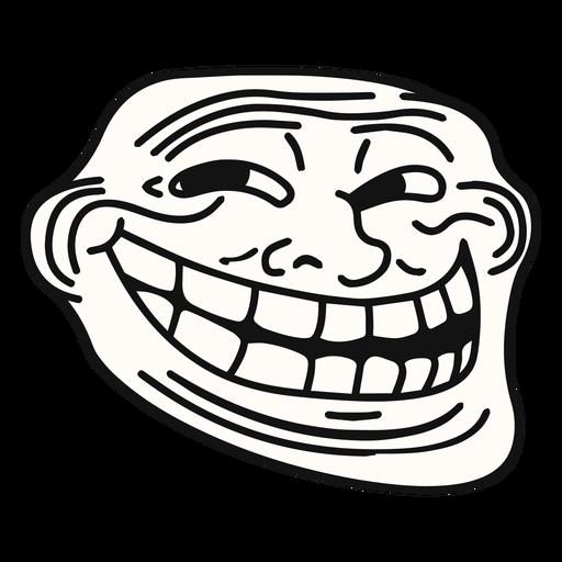Coolface trollface meme - Meme PNG