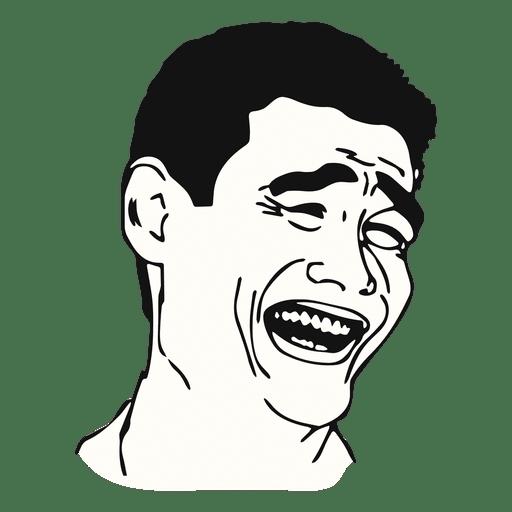 Yao ming face meme Transparent PNG - Meme PNG