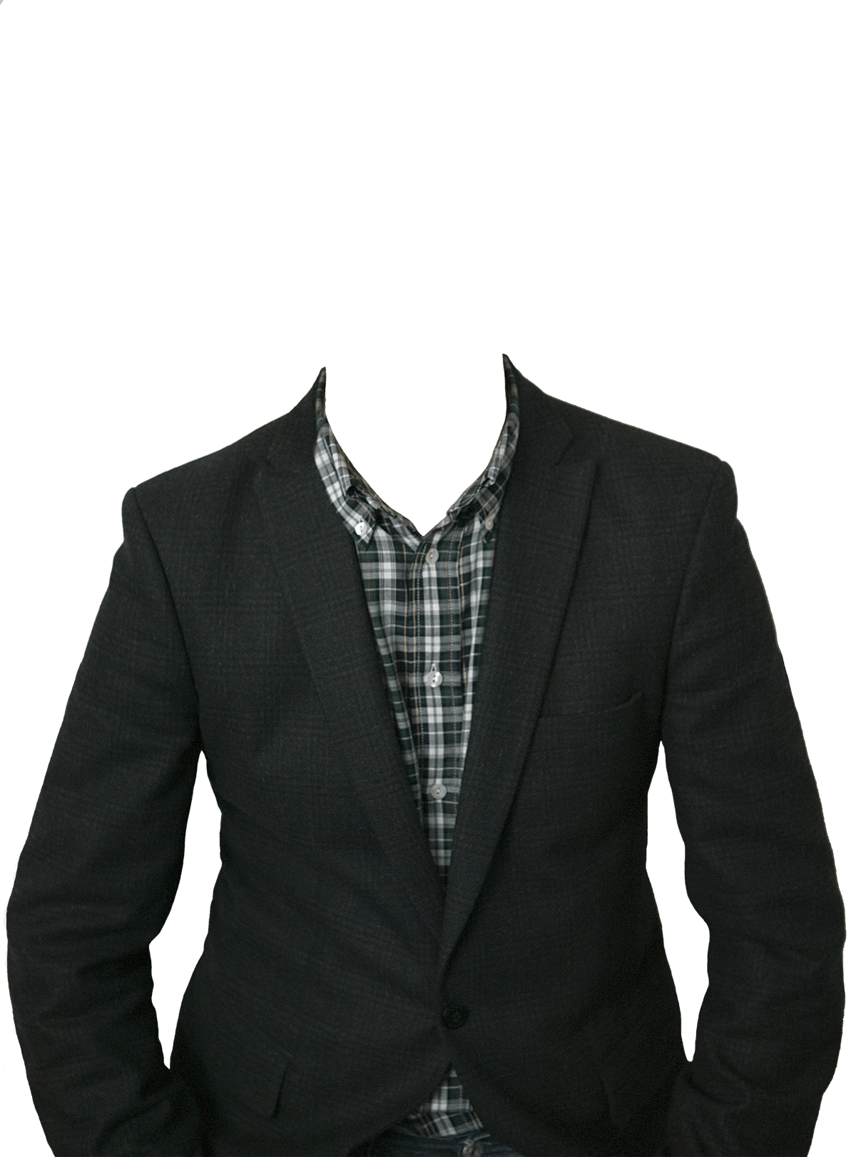 Suit No Head - Men Clothes PNG